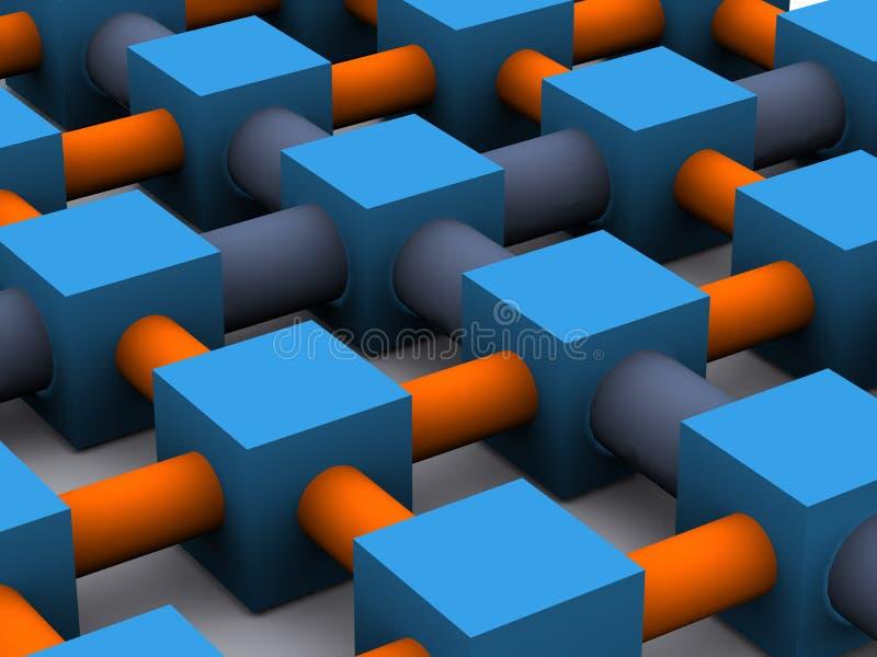 Het net van het netwerk vector illustratie