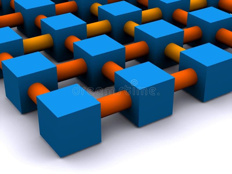 Het net van het netwerk stock illustratie