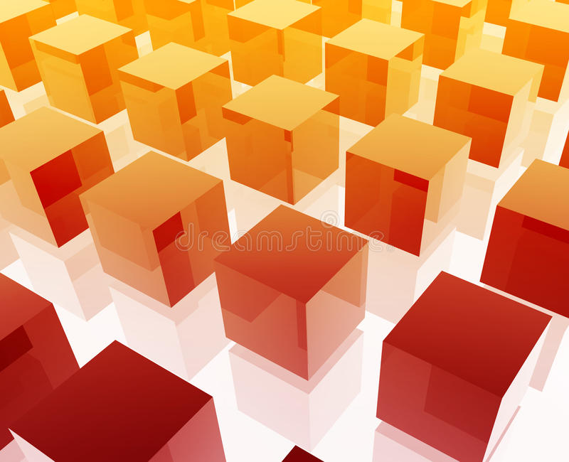 Het netillustratie van kubussen stock illustratie