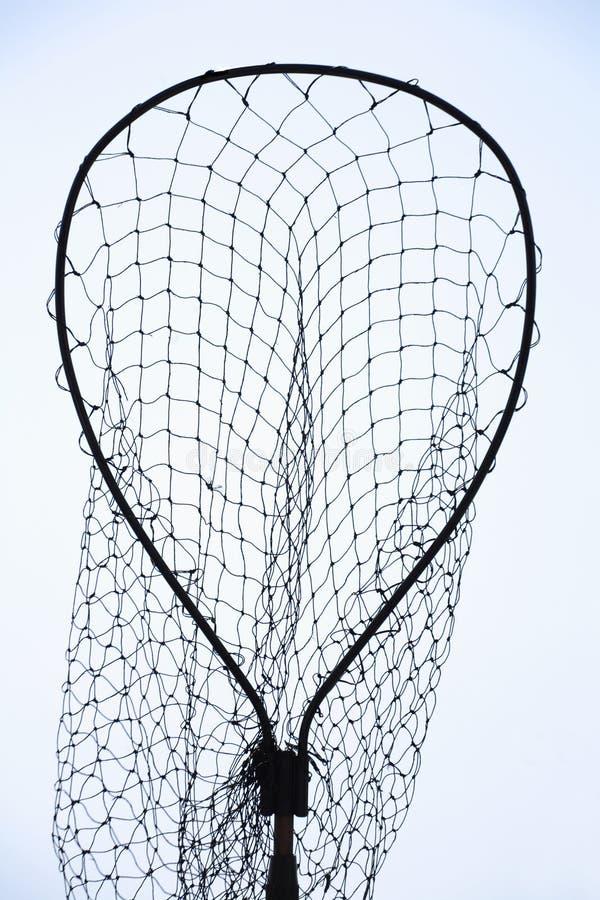 Het netsilhouet van de visserij stock afbeeldingen