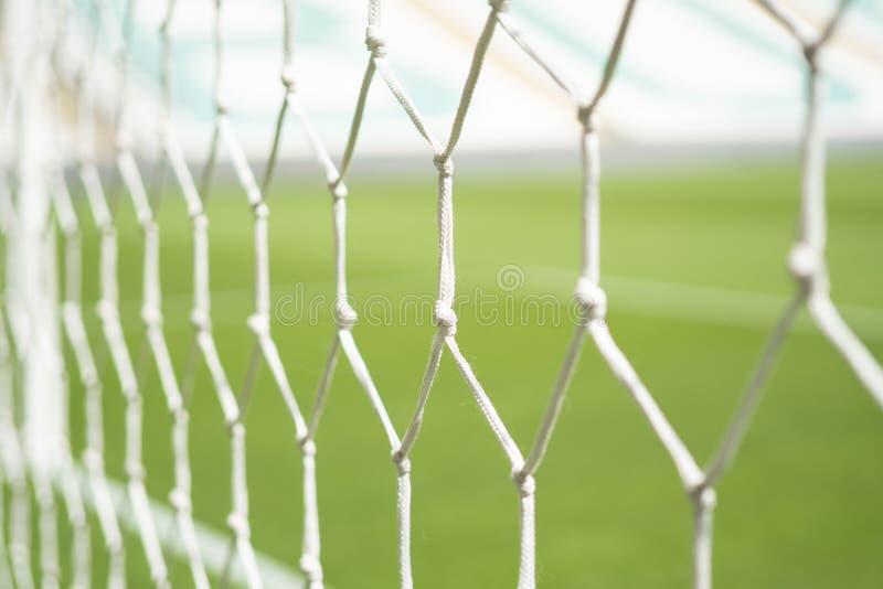 Het Netto Close-up van het voetbaldoel royalty-vrije stock afbeeldingen
