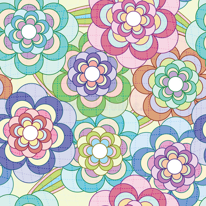 Het Netto Patroon van bloemen