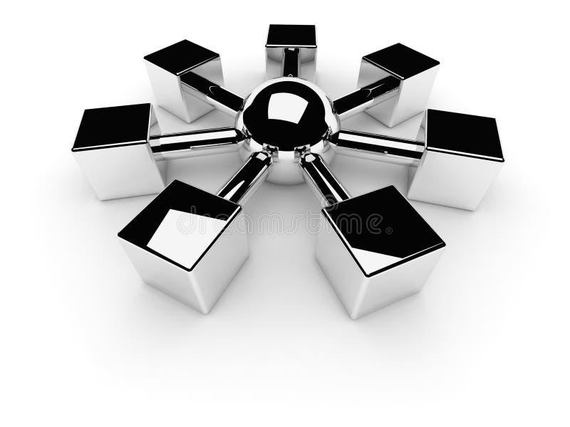 Het netto of Symbool van Internet stock illustratie