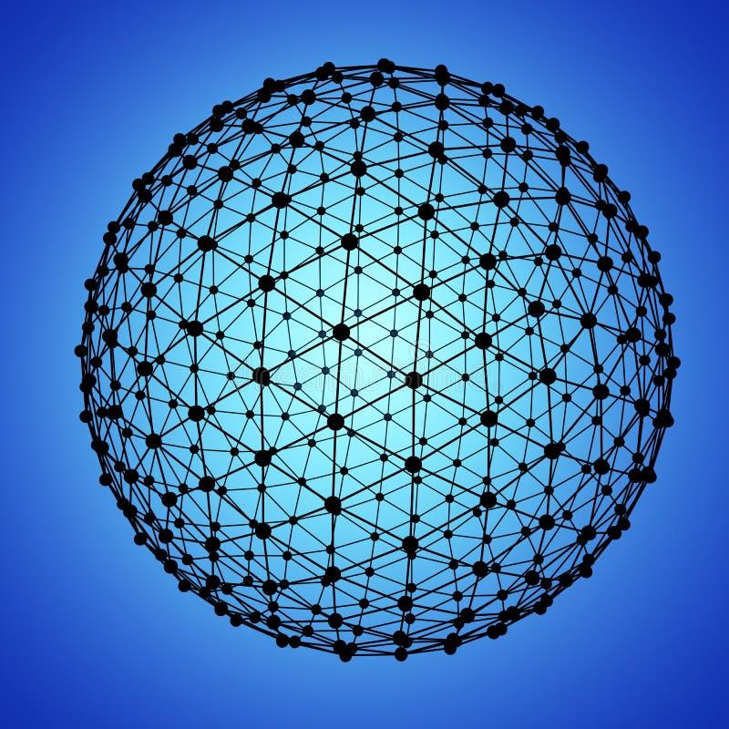 Het Netwerk van de bol royalty-vrije illustratie