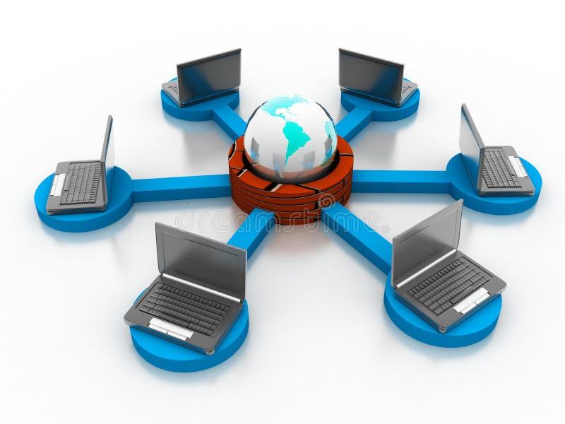 Het Netwerk van de computer stock foto