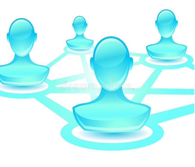 Het netwerk van de gebruiker stock illustratie