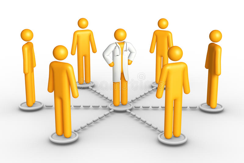 Het Netwerk van de gezondheid royalty-vrije illustratie