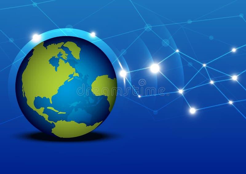Het netwerk van de globalisering vector illustratie