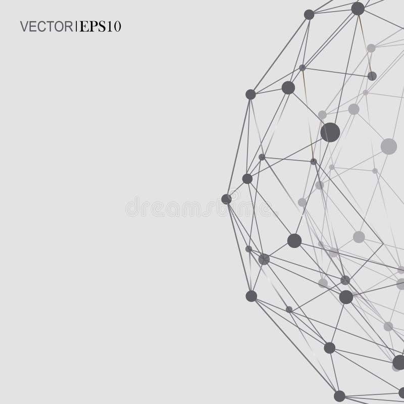 Het Netwerk van de ontwerptechnologie backgound aansluting vector illustratie