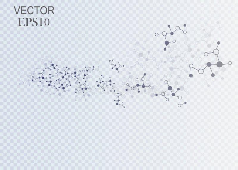 Het Netwerk van de ontwerptechnologie backgound Het concept van de aansluting vector illustratie