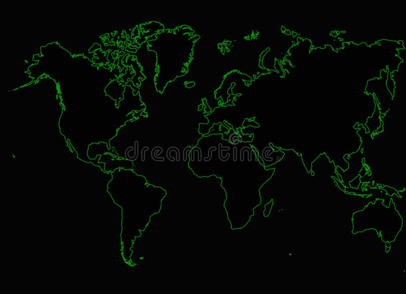 Het netwerk van Internet van de wereldkaart royalty-vrije stock afbeeldingen