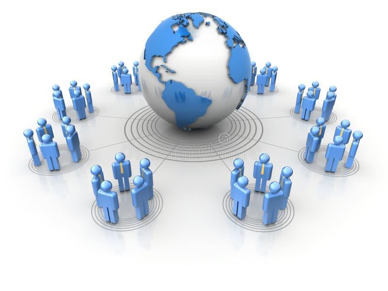 Het netwerk van mensen vector illustratie