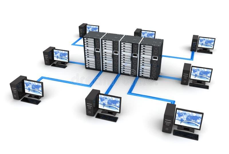 Het Netwerk van PC royalty-vrije illustratie
