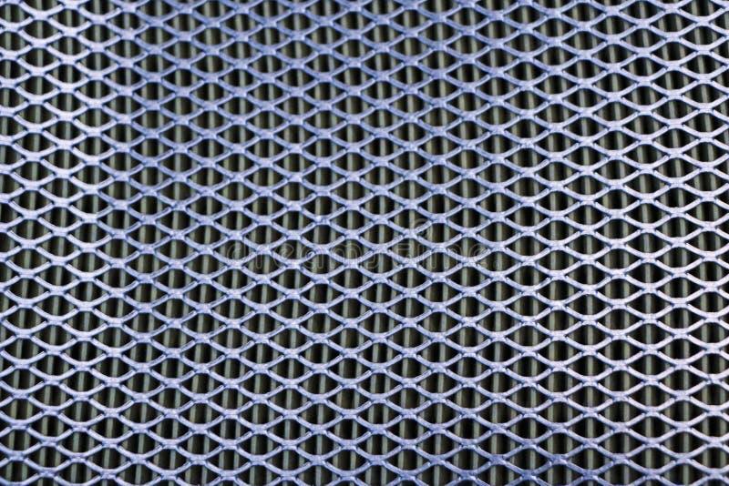 Het netwerk van het staal Net van de filter van de autolucht De textuur van de metaalgrill van vehic royalty-vrije stock afbeelding