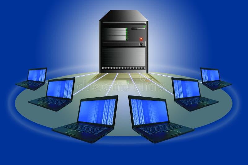 Het netwerkconcept van de computer. stock afbeeldingen