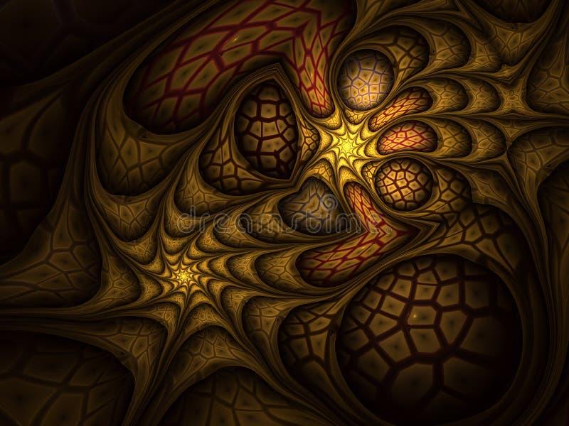 Het netwerkfractal van de fantasiedraai ontwerp vector illustratie