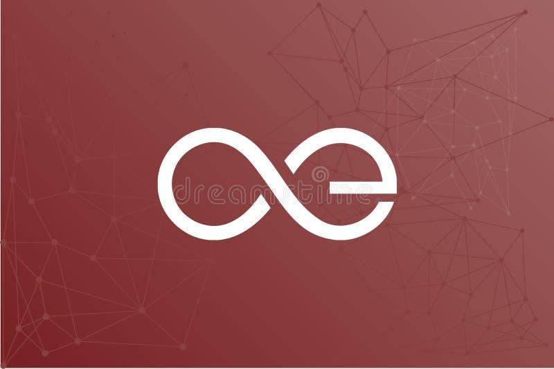 Het netwerkillustratie van Aeternityve stock illustratie