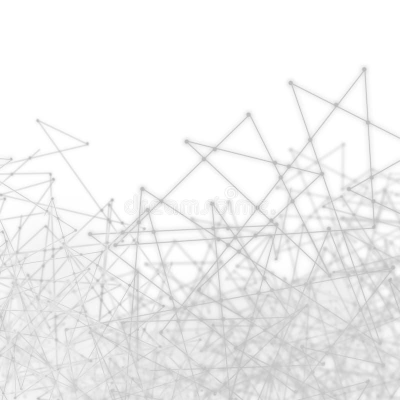 Het Netwerknetwerk van de vlecht Abstract Wetenschap royalty-vrije stock foto's