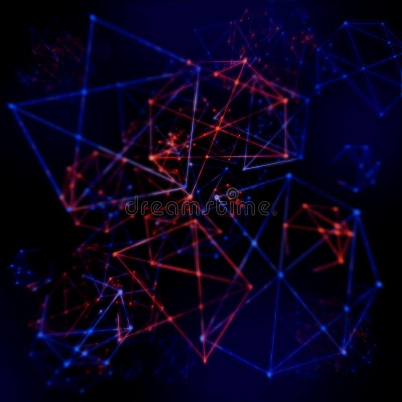 Het Netwerknetwerk van de vlecht Abstract Wetenschap stock foto's