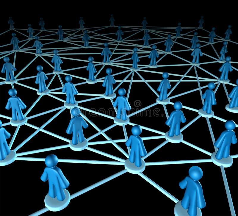 Het netwerkteam van aanslutingen stock illustratie