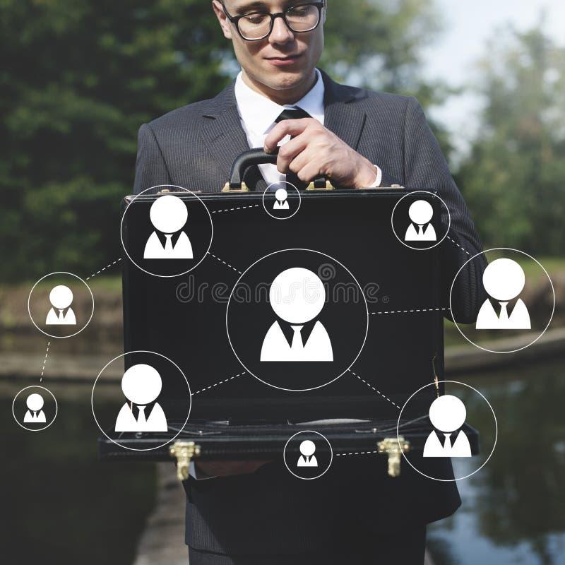 Het netwerkvoorzien van een netwerk deelt Communicatie Verbindingsconcept mee stock foto
