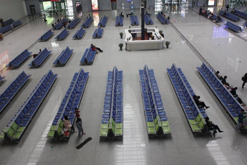 Het Nieuwe CRH-station in Wuhu (Wuhu, China) royalty-vrije stock afbeelding