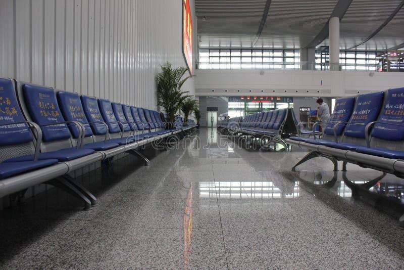 Het Nieuwe CRH-station in Wuhu (Wuhu, China) stock afbeeldingen