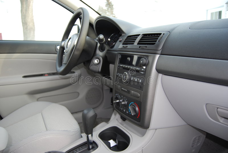 Het nieuwe Dashboard van de Auto stock afbeelding
