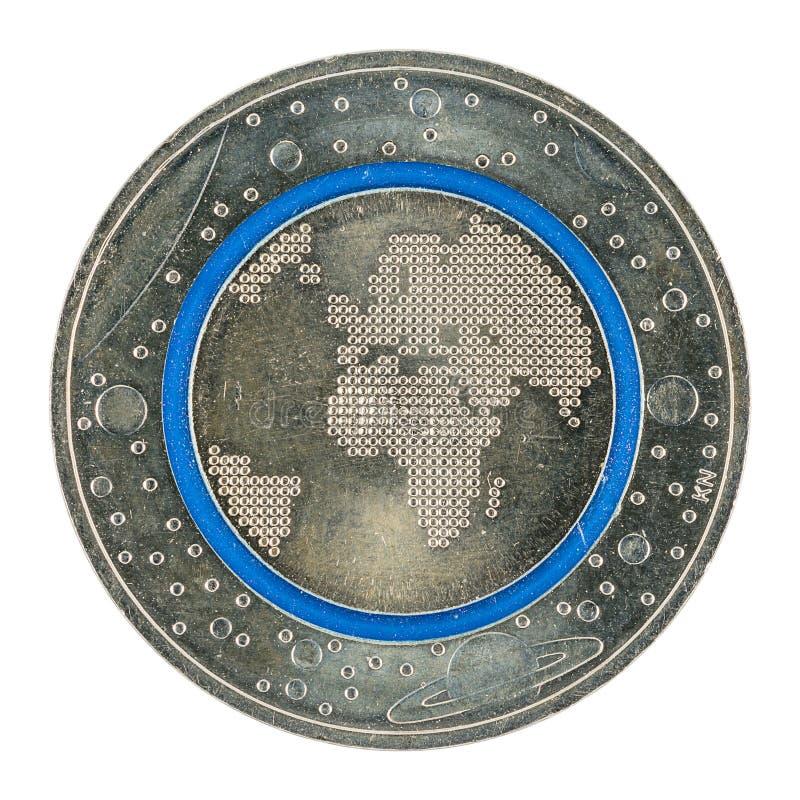 Het nieuwe Duits vijf euro muntstuk 2016 met blauwe polymeerring royalty-vrije stock foto's
