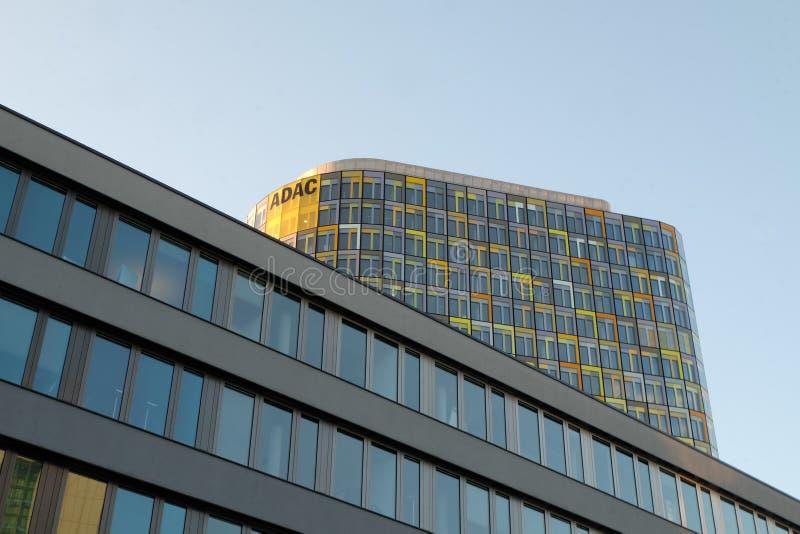 Het Nieuwe Hoofdkwartier van ADAC in München stock foto's