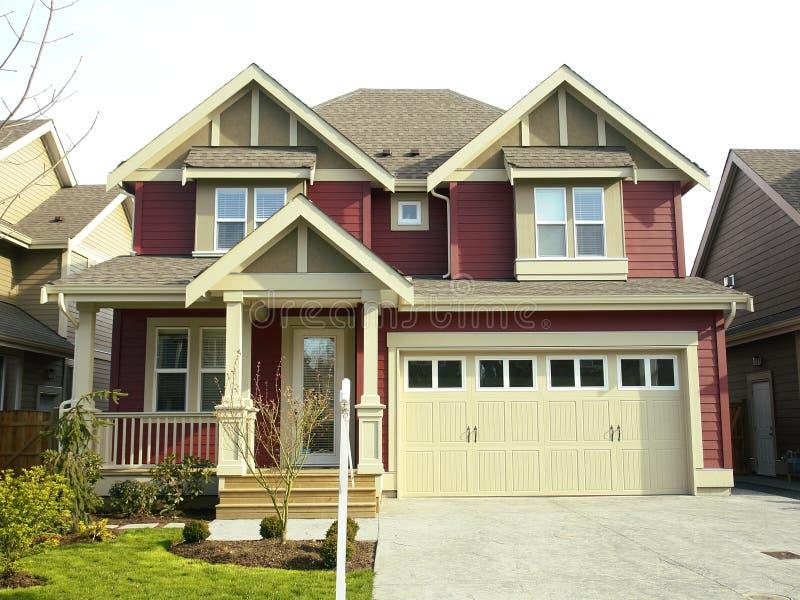 Het nieuwe Huis van het Huis voor Verkoop stock afbeelding