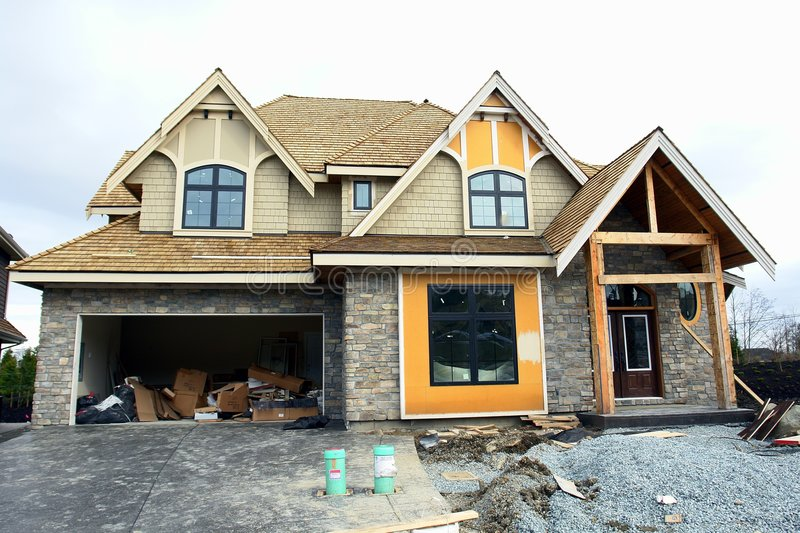 Het nieuwe Huis van het Huis voor Verkoop BC stock fotografie