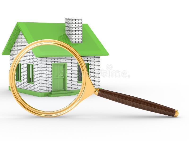 Het nieuwe huis van het onderzoek vector illustratie