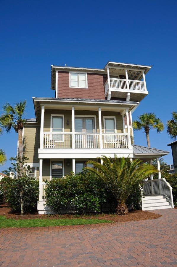 Het nieuwe Huis van het Strand van Florida royalty-vrije stock afbeelding