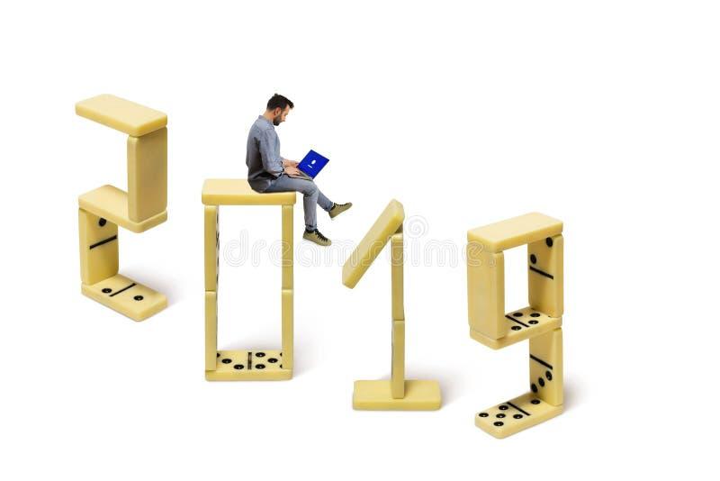 Het nieuwe jaar van 2019 stock afbeeldingen