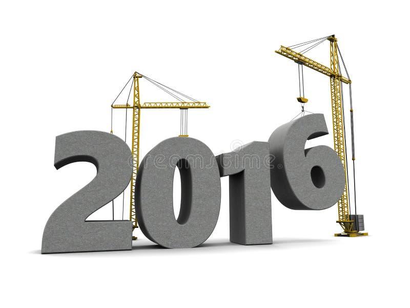het nieuwe jaar van 2016 royalty-vrije illustratie