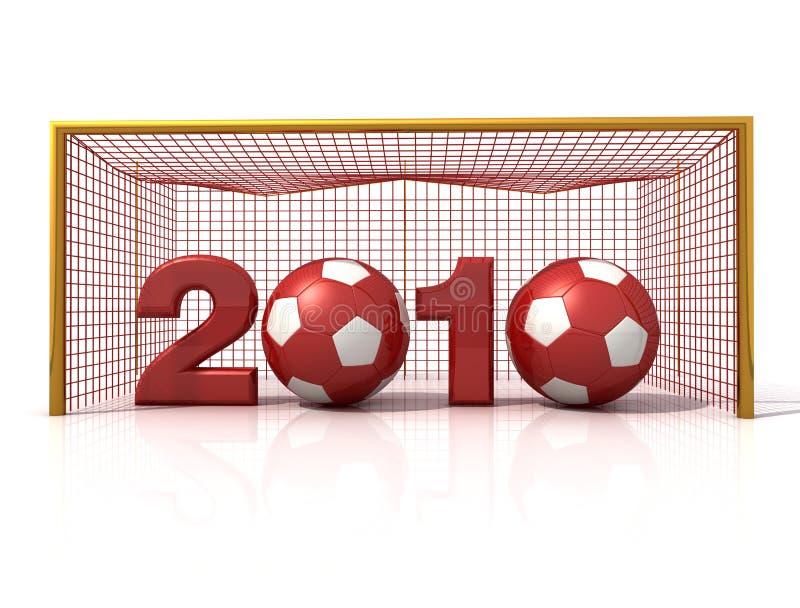 Het nieuwe jaar van het voetbal stock illustratie