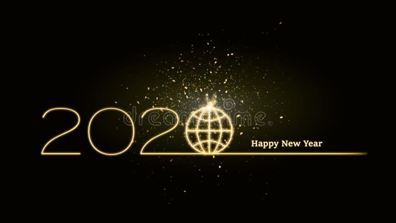 het nieuwe jaar van 2020 onvoorspelbaar op een mondiaal niveau royalty-vrije stock foto's
