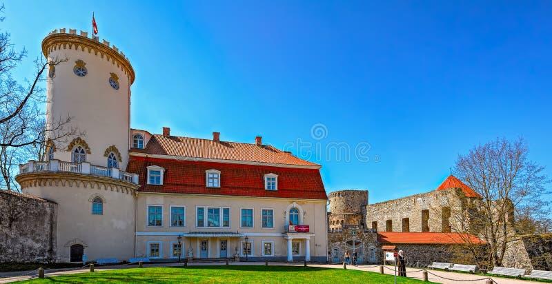 Het Nieuwe Kasteel, Cesis, Letland royalty-vrije stock foto's