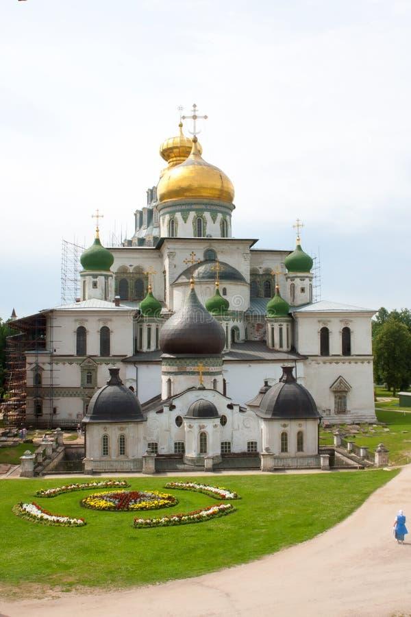 Het nieuwe klooster van Jeruzalem - Rusland stock foto