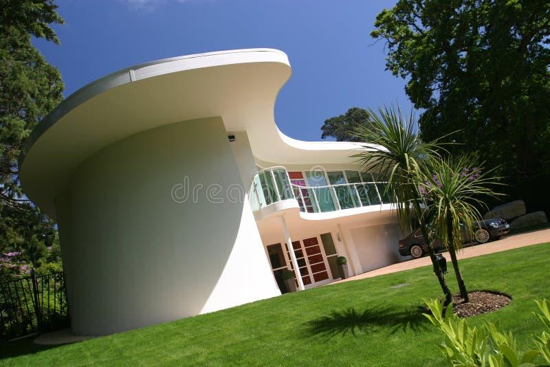 Het nieuwe Moderne Huis van het Huis van de Luxe stock foto's