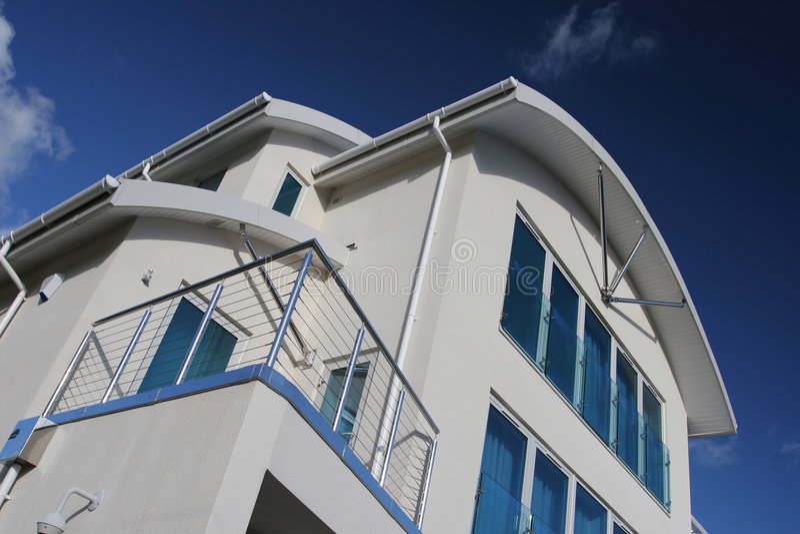 Het nieuwe Moderne Huis van het Huis van de Luxe royalty-vrije stock foto's