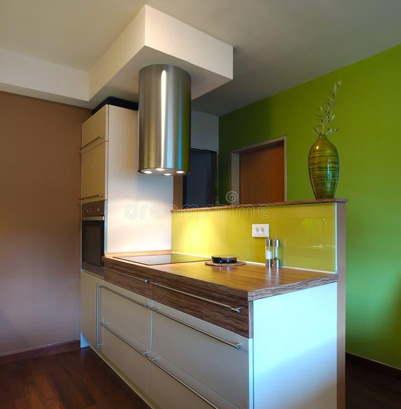 Het nieuwe Ontwerp van de Keuken stock fotografie