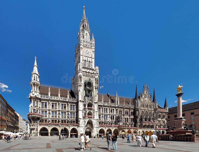 Het nieuwe Stadhuis in München, Duitsland royalty-vrije stock fotografie