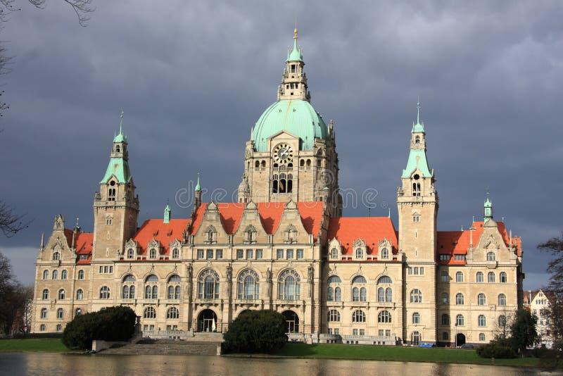 Het nieuwe stadhuis van Hanover, Duitsland royalty-vrije stock afbeelding