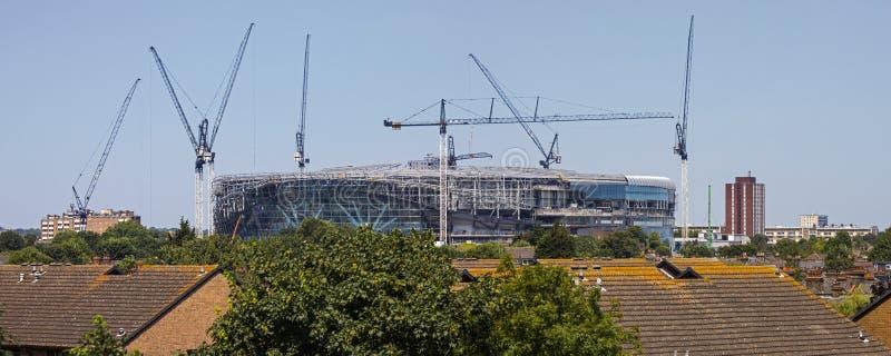 Het nieuwe Stadion van Tottenham Hotspur in aanbouw stock fotografie