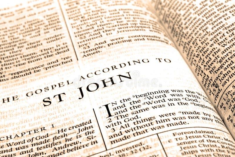 Het Nieuwe Testament St. John van de bijbel royalty-vrije stock afbeeldingen