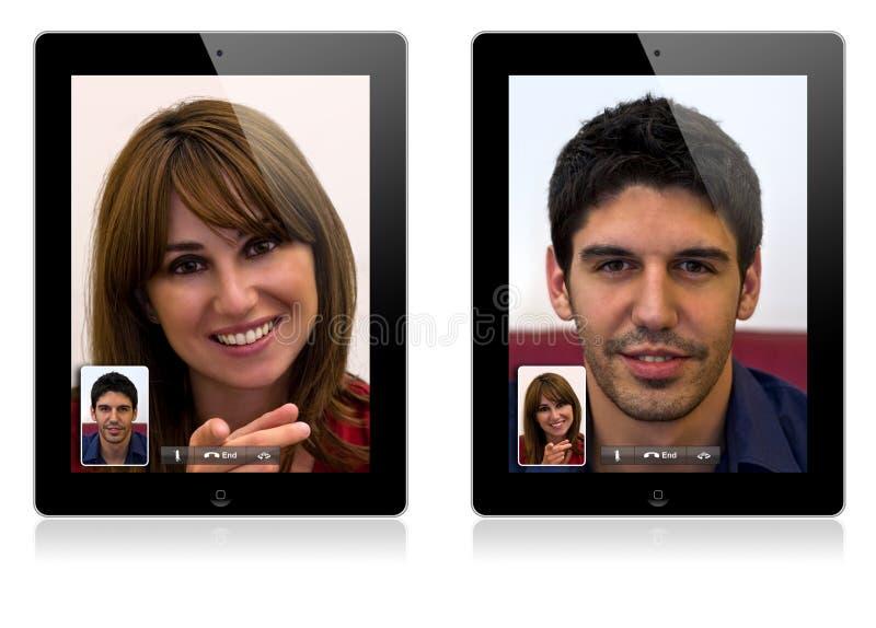 Het nieuwe video roepen 2 van de Appel iPad stock foto