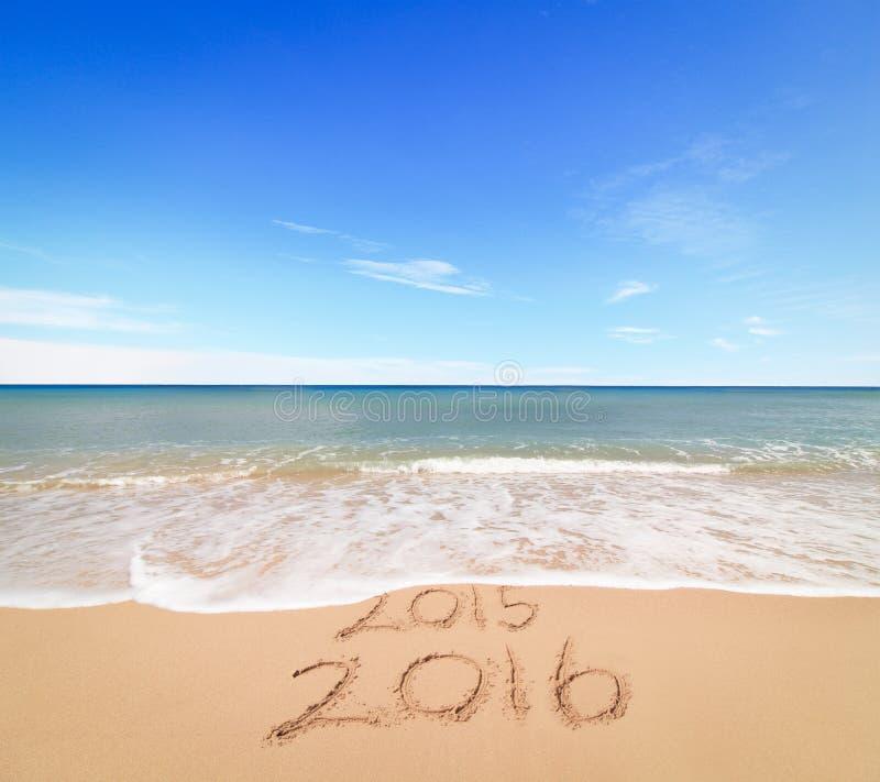 Het nieuwjaar 2016 komt stock fotografie