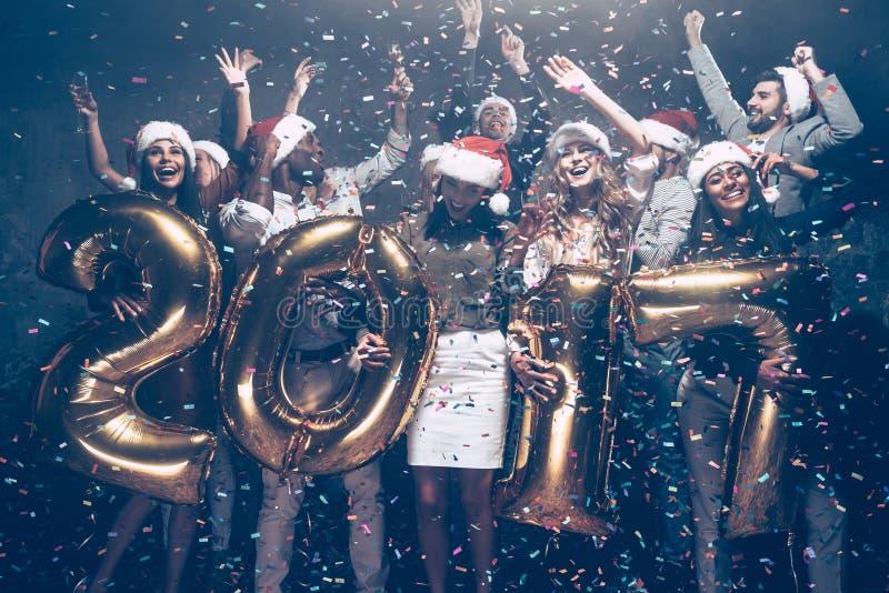 Het nieuwjaar komt! stock foto's